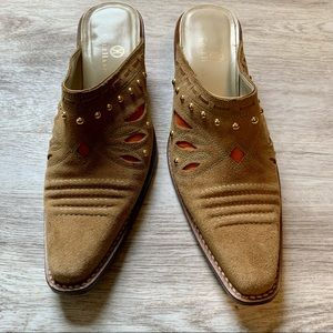 Cole Haan Morgan Western Mules, Size 7 B